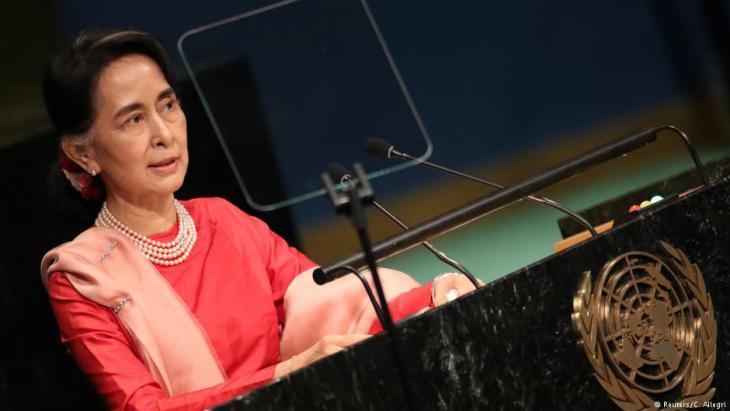 Myanmars Regierungschefin Aung San Suu Kyi; Foto: Reuters