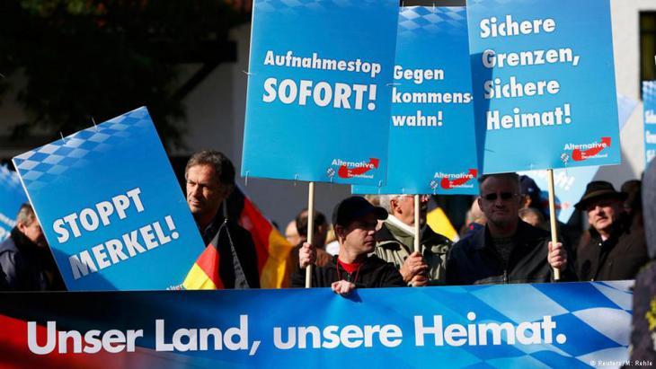 AfD-Anhänger in Bayern; Foto: Reuters