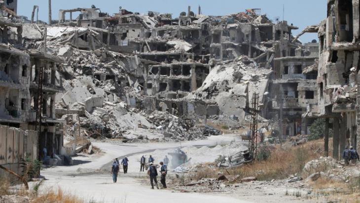 Zerstörte zentralsyrische Stadt Homs; Foto: Reuters