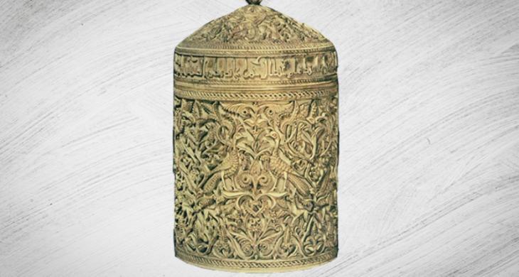 Eine aus Elfenbein gefertigte Deckelkapsel der Prinzessin Subh aus Córdoba; Quelle: © Raseef 22