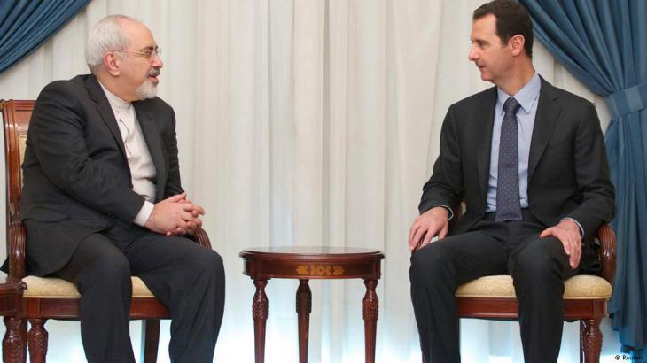 Besuch des iranischen Ausßenministers Sarif in Damaskus bei Präsident Assad am 15. Januar 2014; Foto: Reuters
