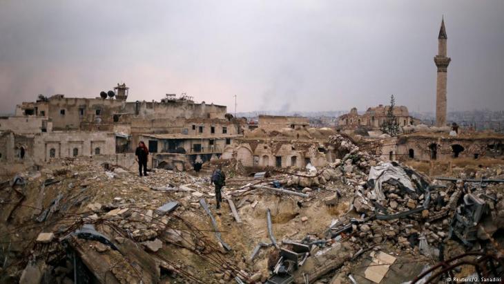 Vom Krieg zerstörte nordsyrische Stadt Aleppo im Dezember 2016; Foto: Reuters