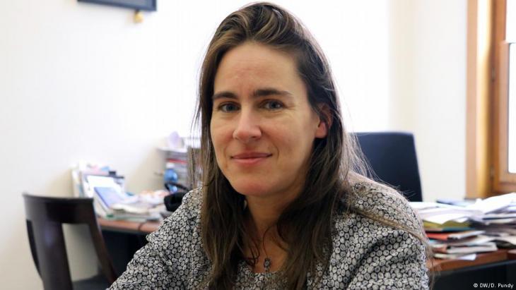 Die Bezirkspolitikerin Sarah Turine; Foto: DW