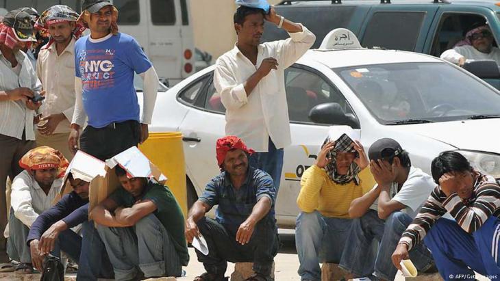 Ausländische Arbeitnehmer in Riad; Foto: AFP/Getty Images