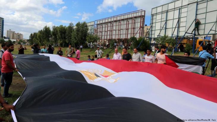 Einigt euch! Demonstration für Versöhnungsgespräche im Gazastreifen:
