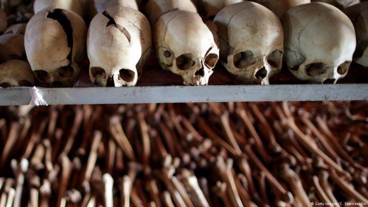 Totenschädel und Gebeine, Völkermord in Ruanda 1994; Quelle: Getty Images