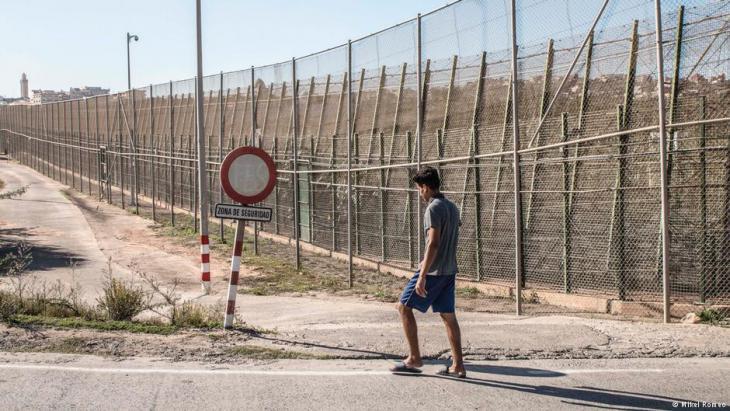 Grenzzaun in Melilla; Foto: Mikel Romeo