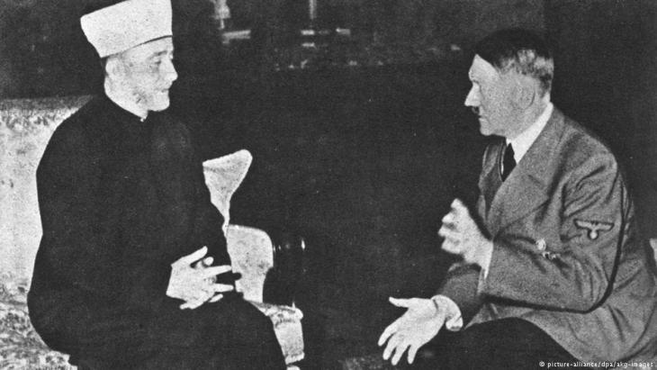 Der Großmufti von Jerusalem bei seinem Treffen mit Adolf Hitler in der Reichskanzlei im November 1941; Foto: picture-alliance/dpa/akg-images