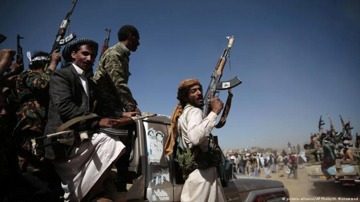 Huthi-Rebellen in Sanaa; Foto: AP/picture-alliance