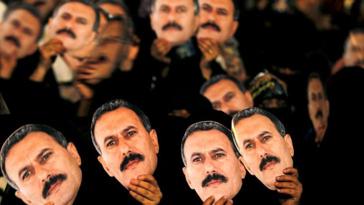 Anhänger des jemenitischen Ex-Präsidenten Ali Abdullah Salih; Foto: Reuters