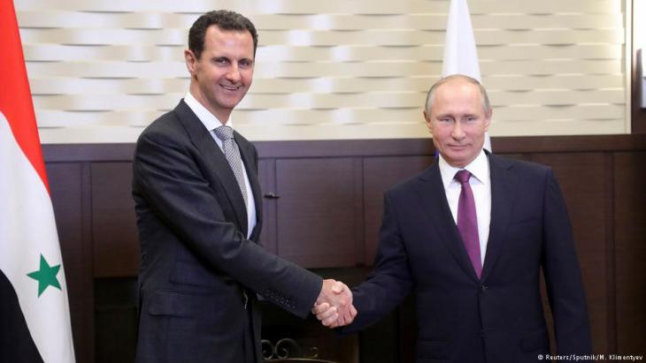 Treffen von Assad und Putin im November 2017 in Sotschi; Foto: Reuters/Sputnik/M. Klimentyev
