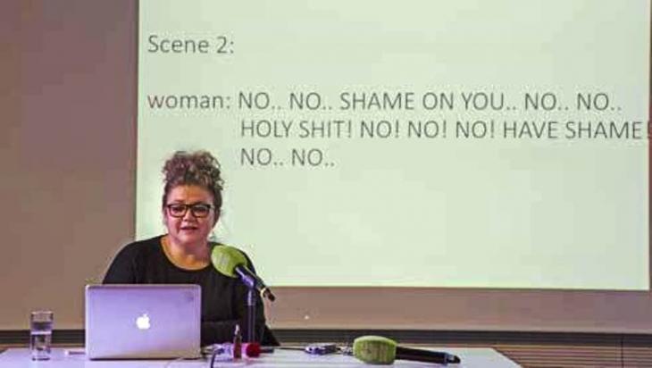 Salma El Tarzi analysiert Sexismus im ägyptischen Film; Foto: Sabry Khaled