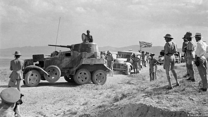 Britische Truppen im Iran im Ersten Weltkrieg; Foto: jamejamonline.ir