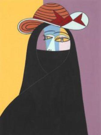 """Helen Zughaibs """"Abaya Picasso""""; Foto: Helen Zughaib"""