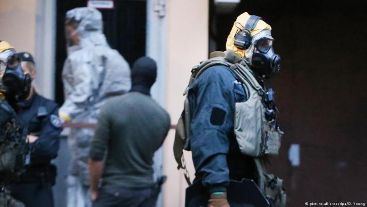 Rizin-Schock im Juni 2018: In einem Kölner Hochhaus wurde vermutlich an einer Bio-Bombe gebastelt; Foto: picture-alliance/dpa