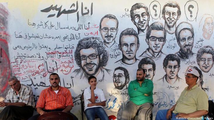 Wandmalereien in der Nähe des Tahrirplatzes in Kairo: Aktivisten der Revolution von 2011; Foto: picture-alliance/dpa