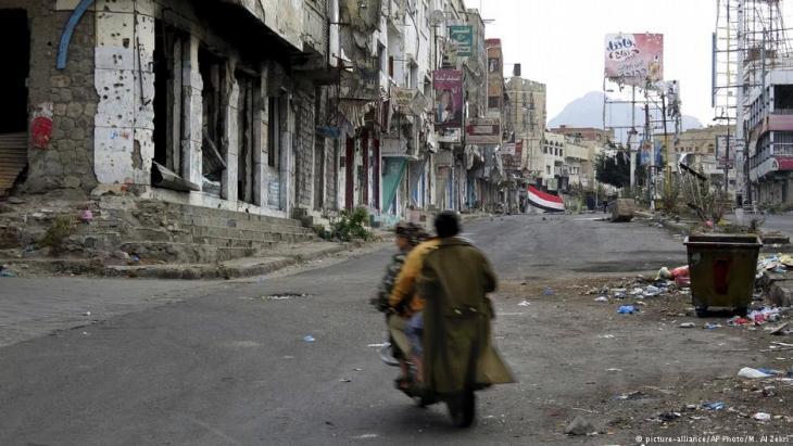 Umkämpftes Taiz, Jemen; Foto: picture-alliance/AP/M. Al Zekri