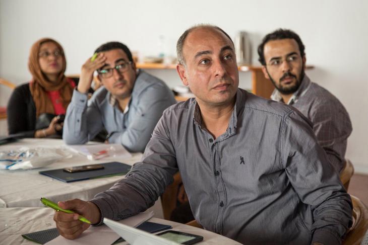 Workshop Wissenschaftsjournalismus; Foto: Roger Anis/Goethe Institut Kairo