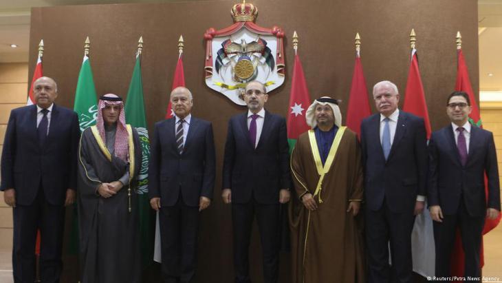 Treffen der Außenminister von sechs arabischen Staaten in Amman; Foto: Reuters