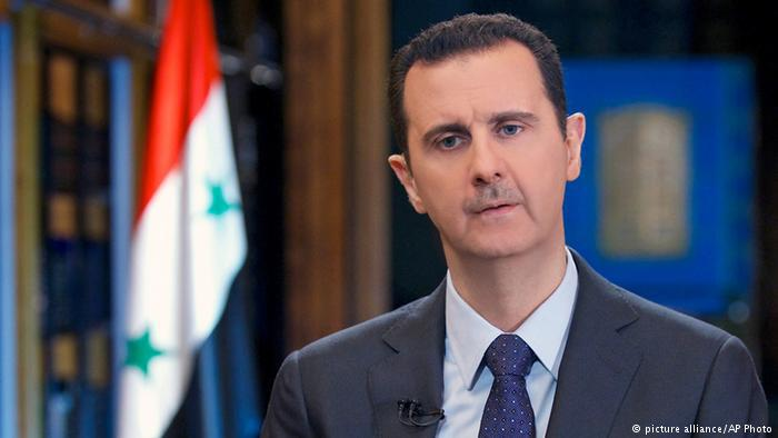Syriens Präsident Baschar al-Assad; Foto: picture alliance/AP