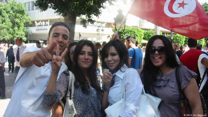 Tunesische Jugendliche; Foto: DW