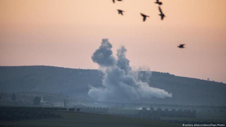 Türkische Angriffe auf Militärposten der YPG in Nordwest-Syrien; Foto: picture-alliance/abaca