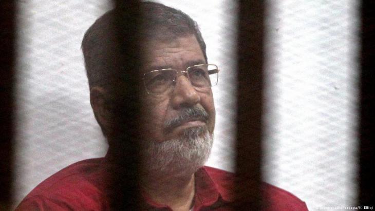 Inhaftierter Ex-Präsident Mohamed Mursi; Foto: dpa/picture-alliance