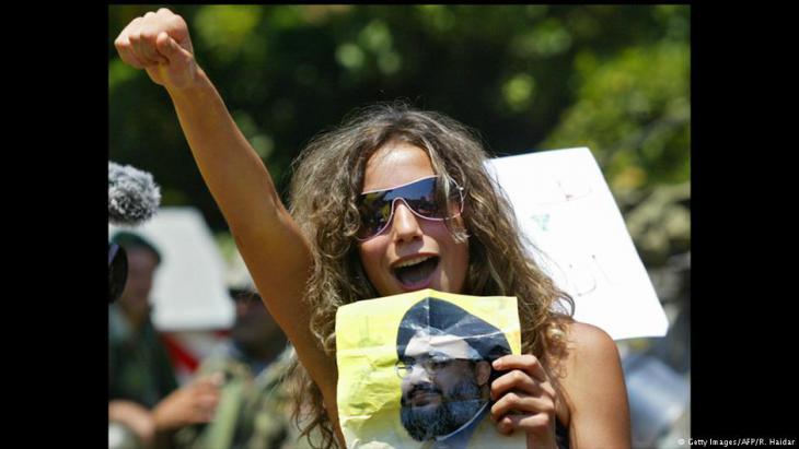 Hisbollah-Anhängerin protestiert gegen die Regierung unter Ministerpräsident Fuad Siniora; Foto: AFP/Getty Images