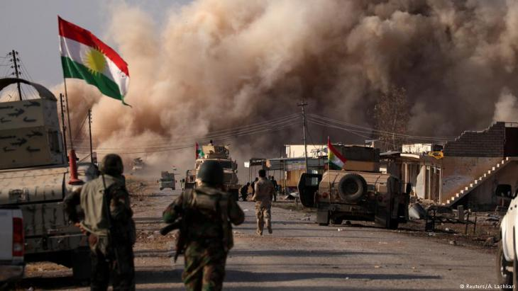 """Peschmerga im Nordirak beim Einsatz gegen Dschihadisten des """"Islamischen Staates""""; Foto: Reuters"""
