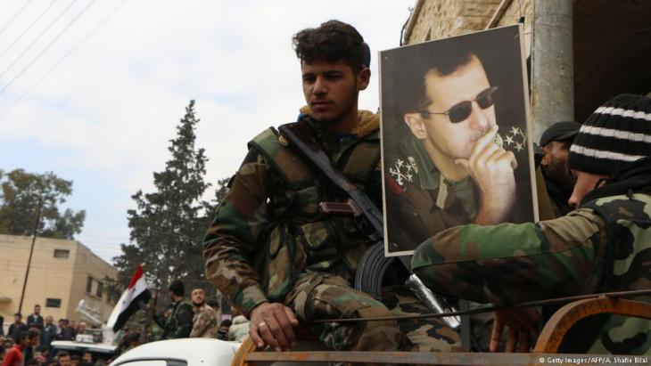 Assad-Truppen in der nordsyrischen Provinz Afrin; Foto: AFP/Getty Images