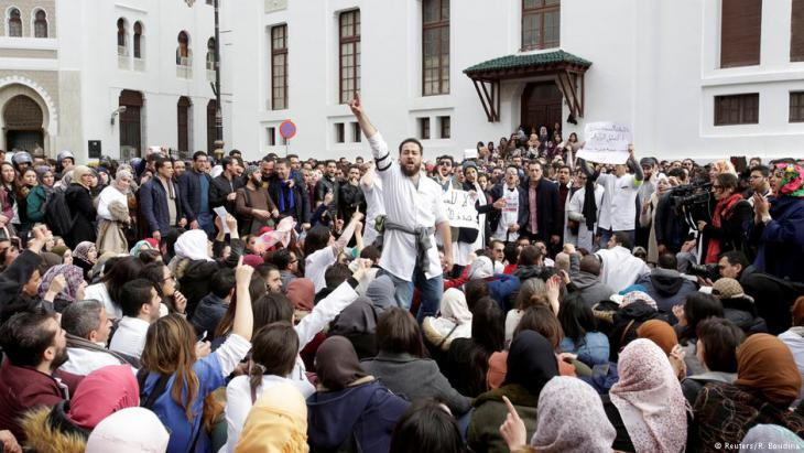 Streikende Mediziner in Algier; Foto: Reuters