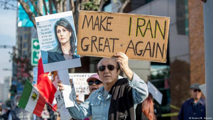 Iranische Exil-Royalisten und Regimegegner demonstrieren am 7. Januar 2018 in Los Angeles, Foto: Reuters