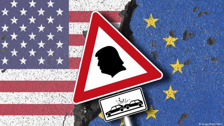 Symbolbild Handelskrieg zwischen der EU und den USA; Quelle: Imago/Ralph Peters