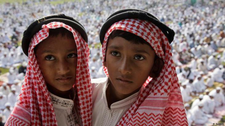 Muslimische Kinder während der Feierlichkeiten zum muslimisches Opferfest Eid al Adha in der indischen Stadt Allahabad; Foto: Reuters/Jitendra Prakash