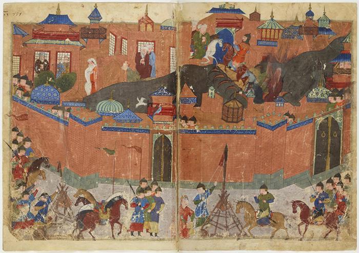 Eroberung Bagdads durch die Mongolen; Quelle: wikipedia