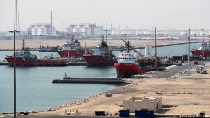 Ras Laffan Industrial City, Qatars Hauptstandort für die Produktion von Flüssigerdgas wird von Qatar Petroleum, rund 80 Kilometer nördlich der Hauptstadt Doha, am 6. Februar 2017 verwaltet (Foto: Getty Images / AFP / K. Jaafar)