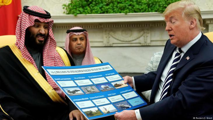 Besuch des saudischen Kronprinzen MBS bei US-Präsident Donald Trump im Weißen Haus in Washington; Foto: Reuters