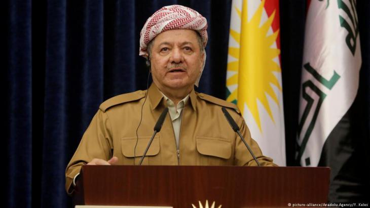 Der frühere kurdische Regionalpräsident Masud Barzani; Foto: picture-alliance/Anadolu Agency