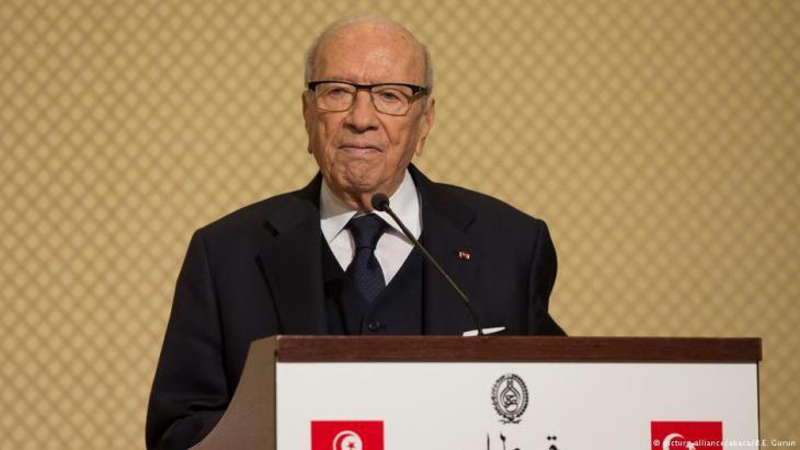 Tunesiens Präsident Beji Caid Essebsi; Foto: picture-alliance/abaca