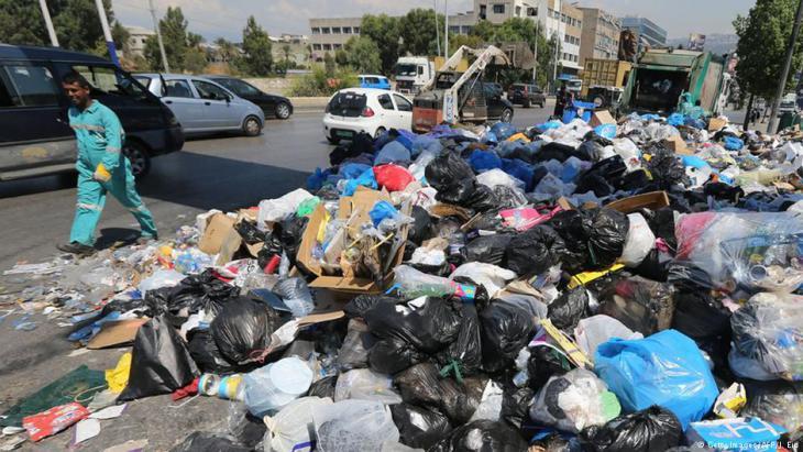 Müll in den Straßen Beiruts im Sommer 2015; Foto: AFP/Getty Images