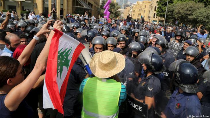 Proteste gegen Müllkrise und Korruption der politischen Eliten im Libanon im Sommer 2015; Foto: Reuters