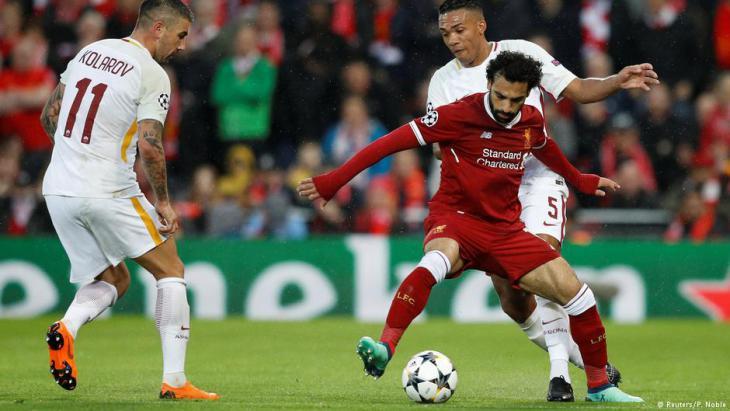 Mo Salah beim Spiel gegen den AS-Rom am 24.4.2018 in Liverpool; Foto: Reuters