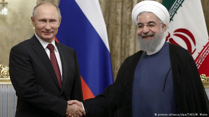 Irans Präsident Rohani und Russlands Staatschef Wladimir Putin; Foto: dpa/picture-alliance