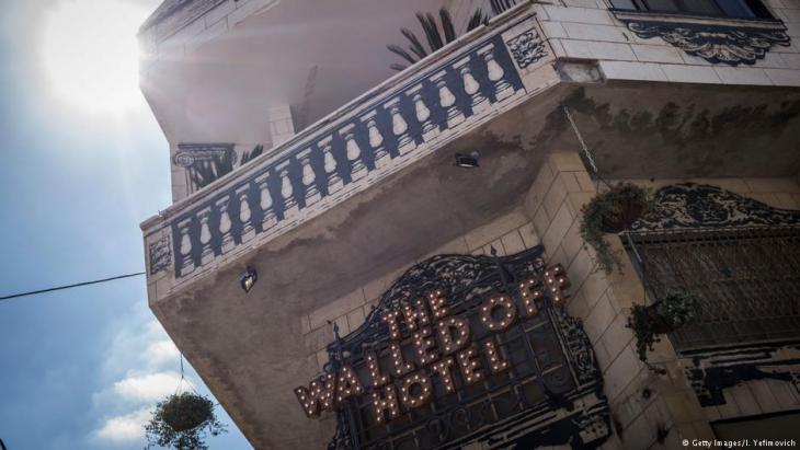 """Walled Off Hotel"" des britischen Künstlers Banksy in Bethlehem; Foto: Getty Images"