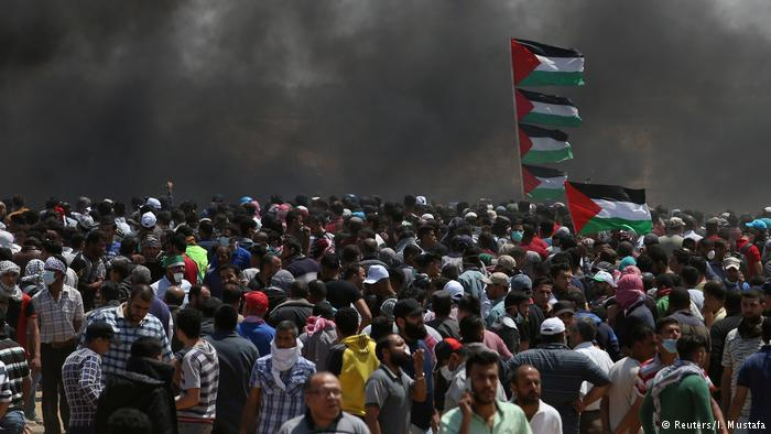 Massenproteste der Palästinenser an Grenze des Gazastreifens gegen den Umzug der US-Botschaft nach Jerusalem; Foto: Reuters