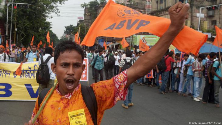 Hindu-Nationalisten protestieren gegen Muslime in Kalkutta; Foto: AFP/Getty Images