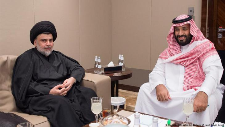 Der schiitische Geistliche zu Besuch beim saudischen Kronprinz Mohammed bin Salman am 30.7.2017 in Jiddah, Saudi-Arabien; Foto: Reuters/B. Algaloud