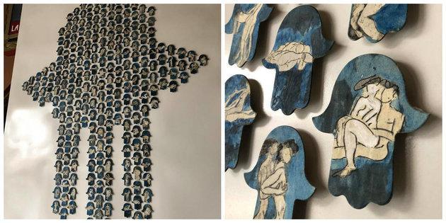 "Auszüge aus ""Kama Sutra"" der Künstlerin Khadija Tanana; Foto: www.ansamed.info"