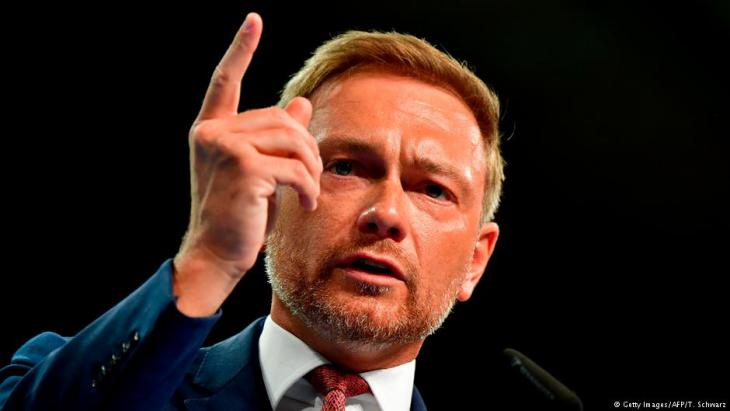 FDP-Parteichef Christian Lindner; Foto: Getty Images/AFP