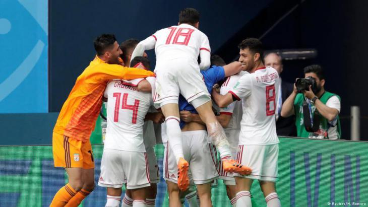 Glückliche Iraner: Sieg ohne Torschuss in der zweiten Halbzeit; Foto: Reuters